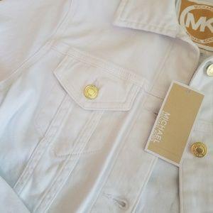 MICHAEL Michael Kors Jackets & Coats - Michael Kors White Denim Jacket - S - NWT